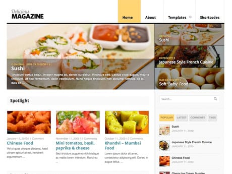 Delicious Magazine Woo Themes