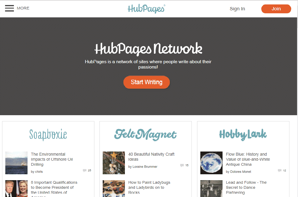 hubpages network