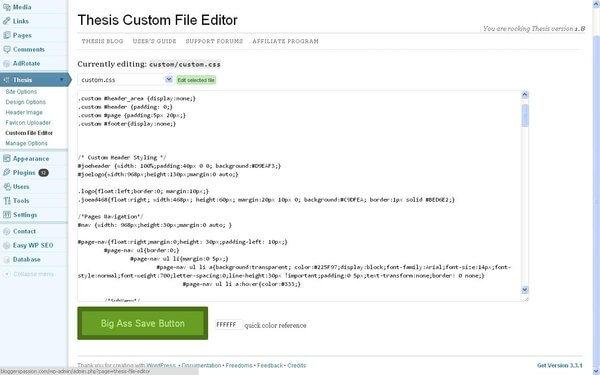 Custom File Editor