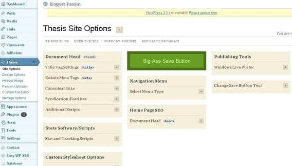 Site Options