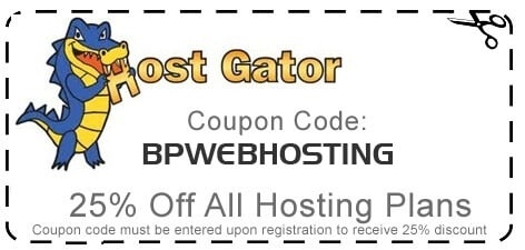 hostgator 25 percent coupon code