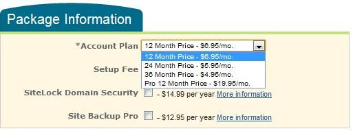 Host Monster Pricing Plan