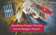 These Are the WordPress Plugins That We Use At Bloggers Passion