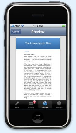 Wordpress Iphone Apps