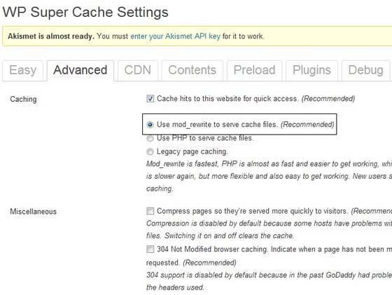 Mode Rewrite to Serve Cache Files