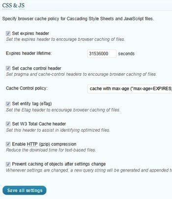 Browser Cache CSS & JS