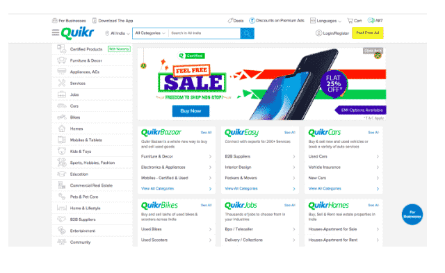 quickr classified ads