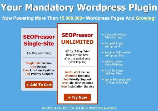 SeoPressor Plugin: Premium Onpage SEO Plugin