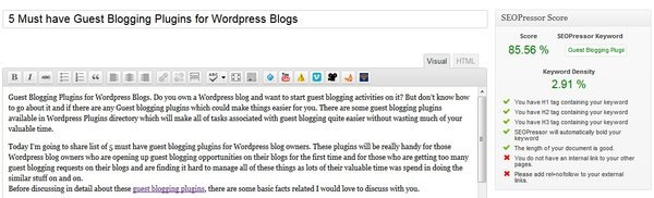 SeoPressor Plugin: Premium Onpage SEO Plugin for WordPress Blogs