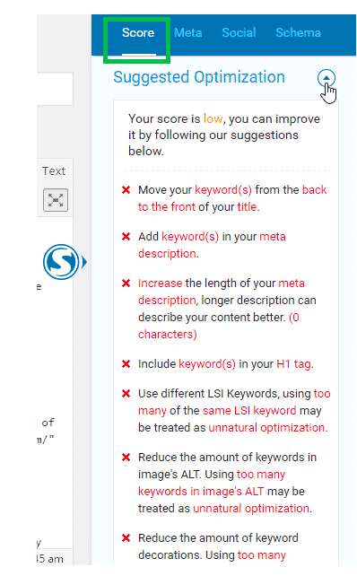 suggested keyword