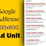Google AdSense Introduces 300×600 Ad Unit [More Power to AdSense Publishers]
