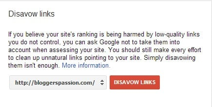 Google Disavow Links Tool Usage for Bloggers Passion