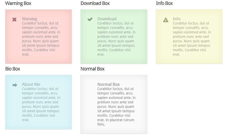 Custom Warning Boxes Shortcodes