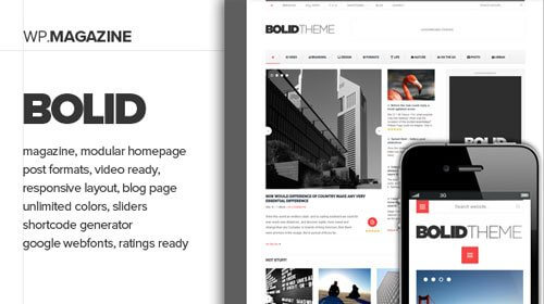 Bolid Responsive WordPress Theme