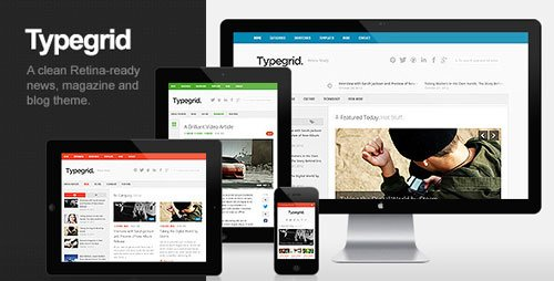 Typegrid responsive wordpress theme