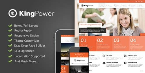 Kingpower responsive wordpress theme