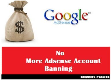 No More Google Adsense Account Ban