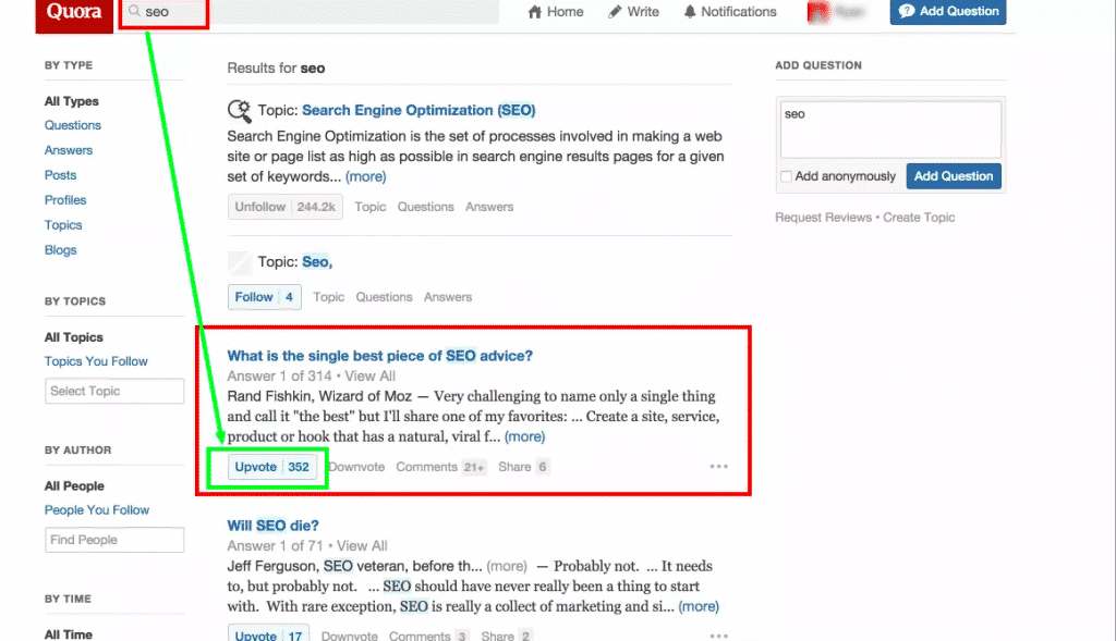 quora blog topics