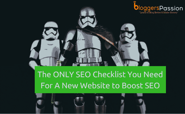seo checklist for new site in 2018