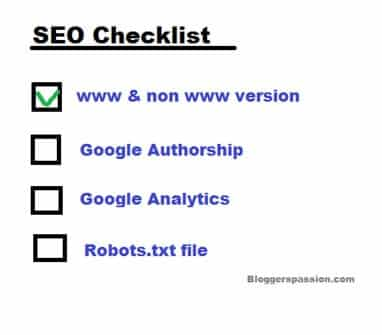 SEO technical checklist