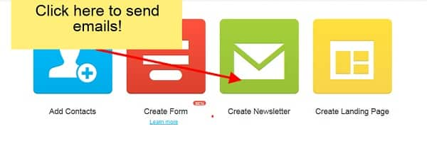 Create newsletter using GetResponse