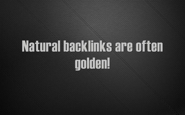 build natural backlinks