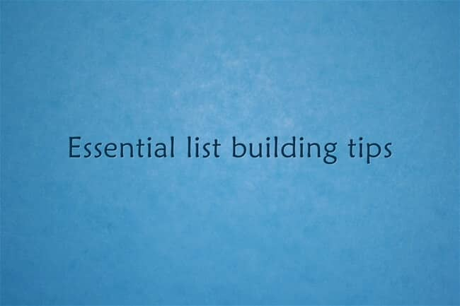 list building tips for bloggers
