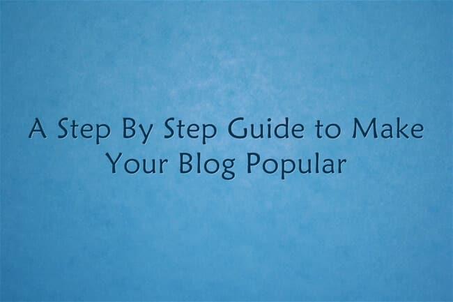 build a popular blog
