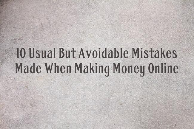make money blogging mistakes