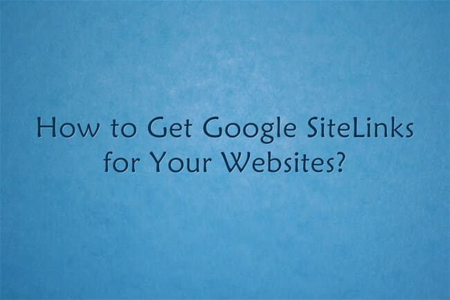 google sitelinks benefits