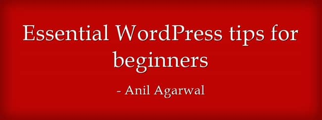 essential wordpress tips for beginners