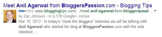 setting up google authorship