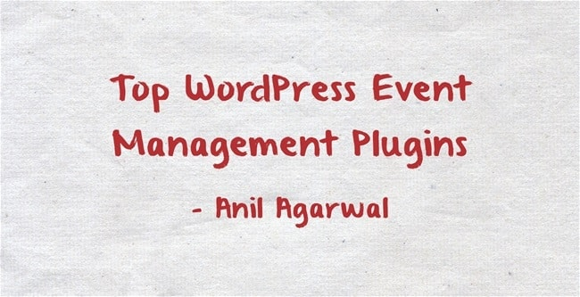wordperss event management plugins