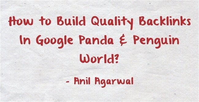 how to build backlinks in google penguin world