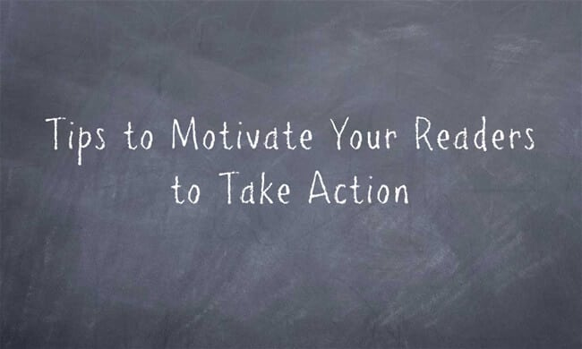 encourage readers to take action on blogs