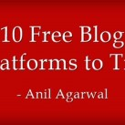 List of 10 Free Blogging Sites for Creating Blogs