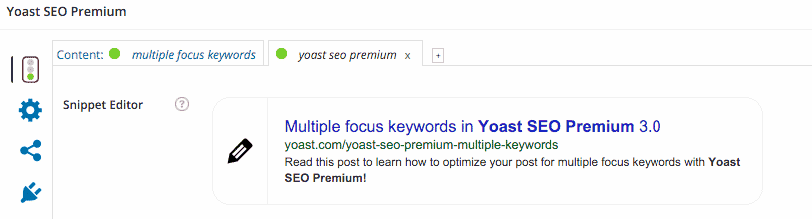 multiple yoast keywords