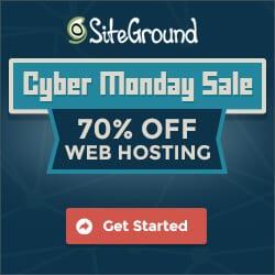 Siteground Cyber Monday Sale