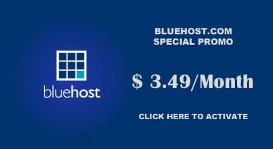 Bluehost Coupon to get cheap web hosting