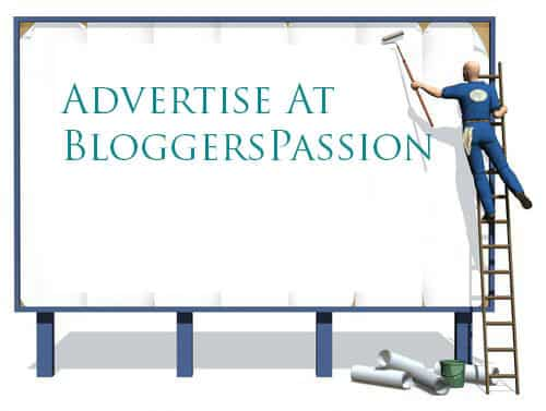 Advertise on Bloggers passion