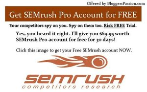 SEMrush Pro Account for Free