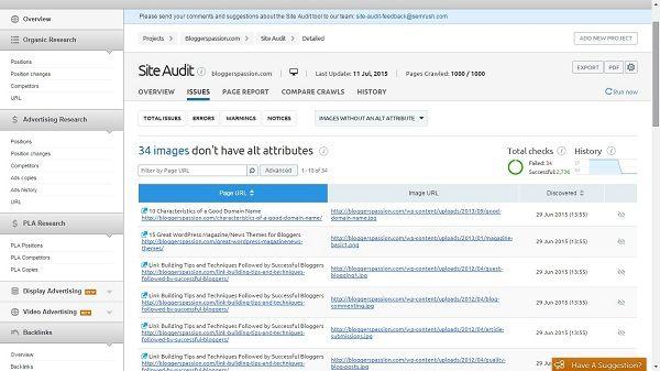 image alt tag errors
