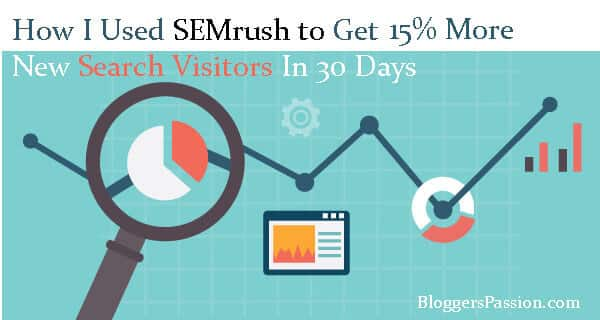 [Case Study] How SEMrush Increased My Blog Traffic by 15% In 30 Days