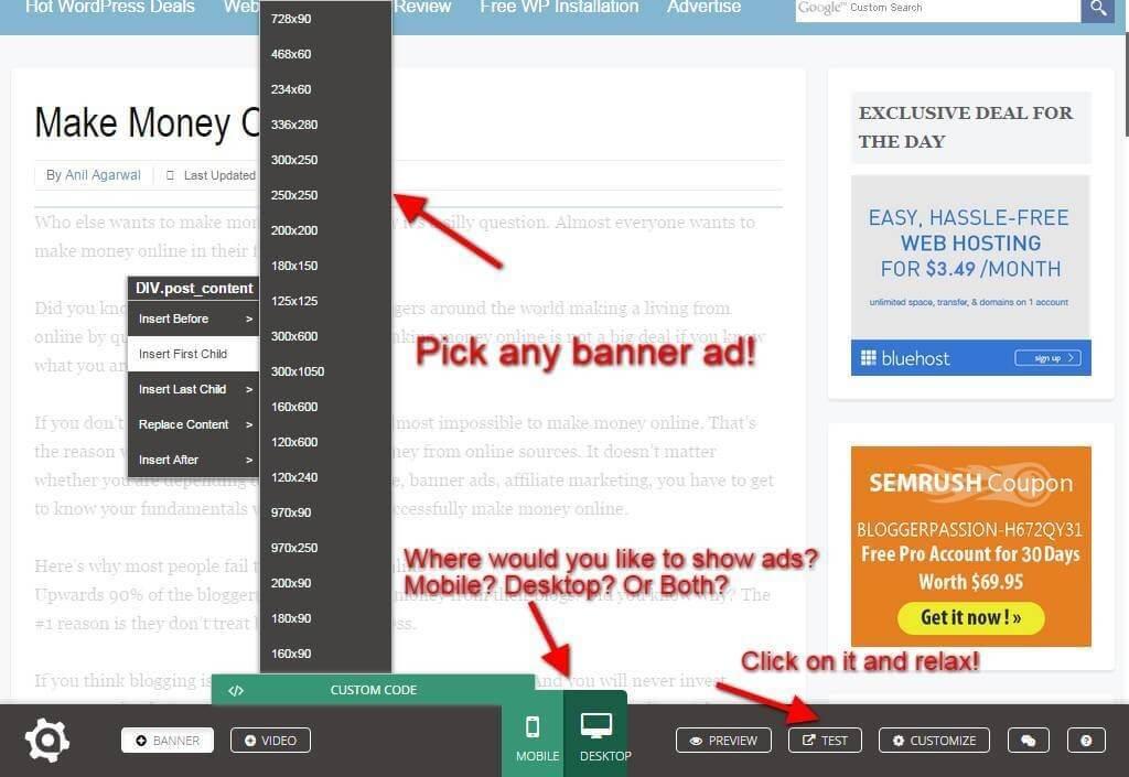 AdNgin: Pick Adsense Ad Size
