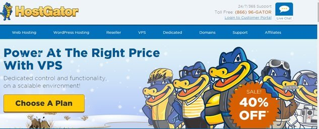 Hostgator VPS Hosting Review with 40% Discount Coupon