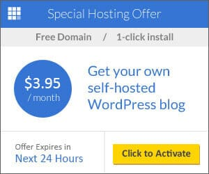 BlueHost WordPress Hosting - $3.95/month