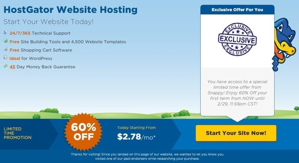 Hostgator Discount Coupon: 60% Off on All Hosting Plans (Live)