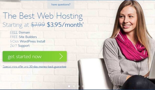 BlueHost WordPress Hosting Claim at $3.95/month