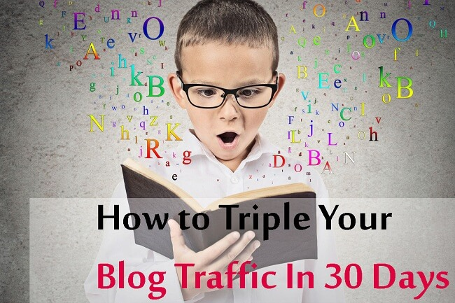 increase blog traffic in a month