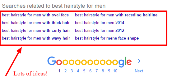 Google suggestion tool